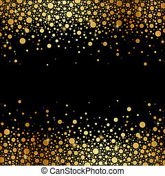 black background with gold snow