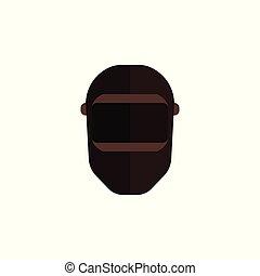 Vector black balaclava icon for skiing or criminal