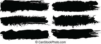 vector black banners set