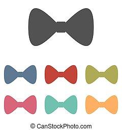 Vector Black Bow Tie icons set
