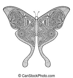 Vector black butterfly