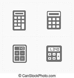 Vector black calculator icons set
