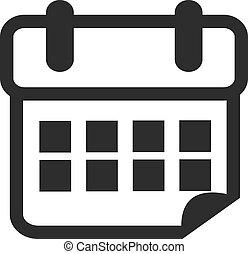 Vector Black Calendar Icon