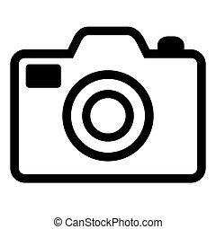 vector black camera icon on white background. eps 10