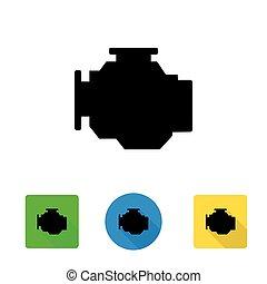 Vector black car engine icon