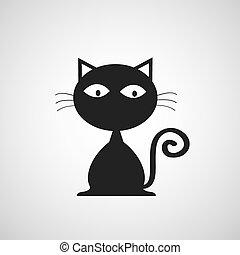 vector black cat cartoon