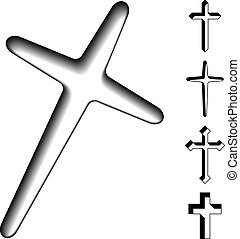 vector black christian crosses