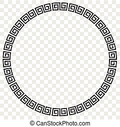 Vector Black Circle Frame for Certificate, Placard Go Xi Fat Cai, Imlek Moment or other China Related at transparent effect background
