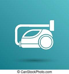 vector black cleaner icon vacuum symbol electric.