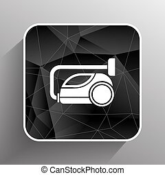 vector black cleaner icon vacuum symbol electric