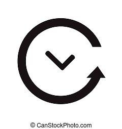 vector black clocks icons.