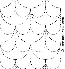 Vector Black Decorative Seamless Pattern
