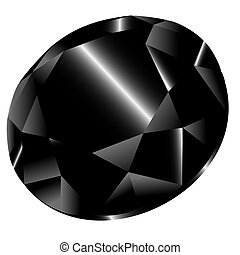 Vector black diamond