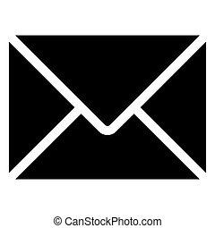 vector black envelope icon on white background. eps 10
