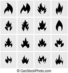 Vector black file icon set