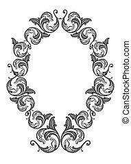 Vector black floral frame