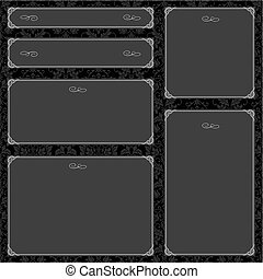 Vector Black Frame Set