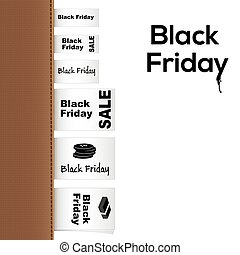 Black Friday Collection of clothing labels