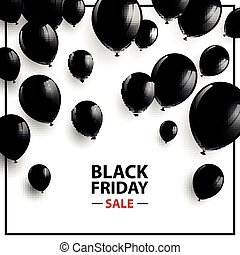 Vector Black Friday Sale Poster - Vector Illustration of a...