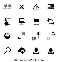 Vector black FTP icon set