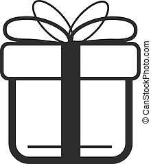Vector Black Gift Icon