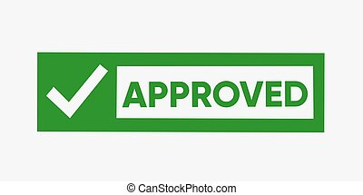 Vector Black Grunge Approved Stamp With Checkmark