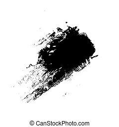 Vector black color brush strokes  watercolor monochrome