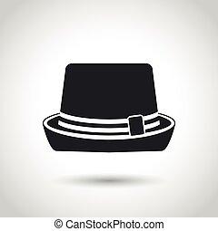 vector black hat icon