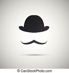 vector black hat on a white background
