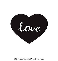 Vector black hearts icon