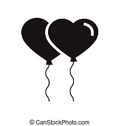Vector black hearts icon