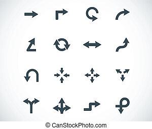 Vector black icon arrows icons