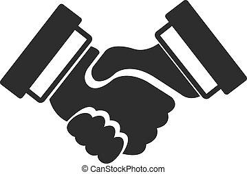 Vector Black Icon Handshake