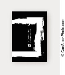 vector black ink brush stroke - Black ink brush stroke on...