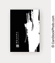 vector black ink brush stroke - Black ink brush stroke on...