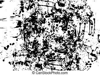 vector black ink splatter background isolated