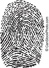 Vector black isolated fingerprint