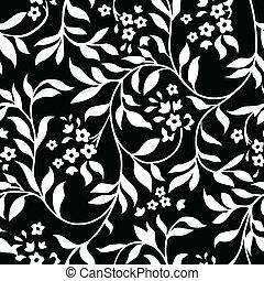Vector Black Ivy Pattern