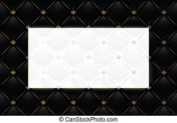 Vector black leather background - Vector illustration of...