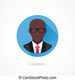 Vector Black Man in Business Suit