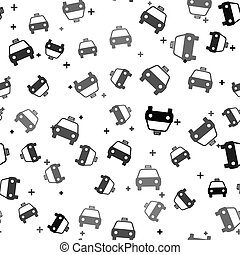 vector, black , model, pictogram, vrijstaand, taxi, witte , auto, seamless, illustratie, achtergrond.