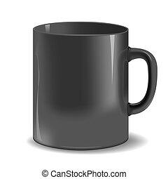 Black mug cup