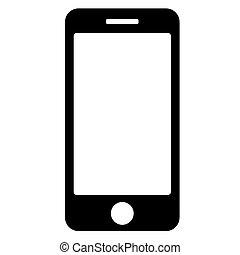 vector black phone icon on white background. eps 10.