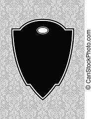 Vector Black Pointed Frame