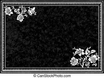 Vector Black Rose Frame