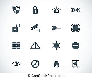 Vector black  security icons set