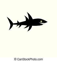 Vector black shark