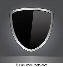 Vector Black Shield