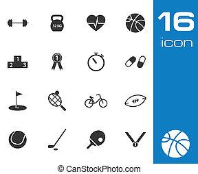 Vector black sport icons set