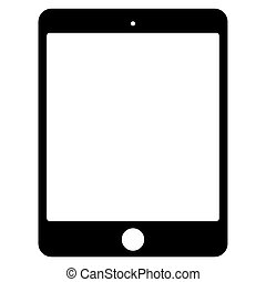 Vector black tablet icon on white background